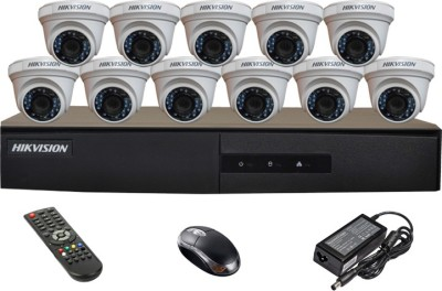 Hikvision DS-7216HGHI-E1 16CH Dvr, 11(DS-2CE56COT-IR) Dome Cameras (With Mouse,Remote)