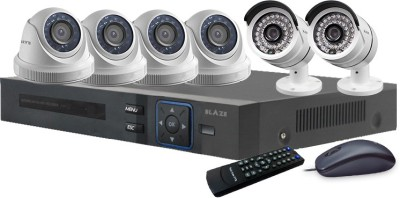 BLAZE HIGH DEFINITION CCTV COMBO PACKAGE WITH 1.3MP HD CAMERAS (4 DOME & 2 BULLET CAMERAS) & 8CH FULL HD DVR 6 Channel Home Security Camera