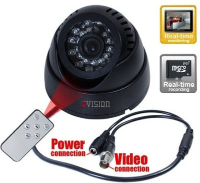 Zvision Night Vision CCTV inBuilt DVR with Memory Card Slot Recording and TV-Out Home Security Camera