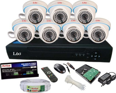 Lio AHD Full Combo, 1MP AHD Dome Camera 7pcs + CCTV Cable + 1TB HDD + LIO AHD DVR 8 Channel Home Security Camera