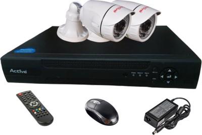 Active Feel Free Life AHD Combo, 2 AHD Camera + AHD DVR 4 Channel Home Security Camera