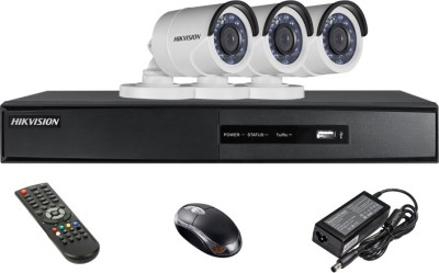 Hikvision DS-7204HGHI-SH 4CH Dvr , 3(DS-2CE16C2T-IRP) Bullet Cameras (With Mouse, Remote)