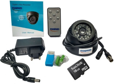 magnum elite BNC Dome Camera with Memory Card Support (16GB SANDISK Memory Card included) 1 Channel Home Security Camera