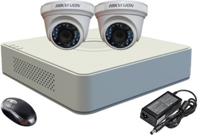 Hikvision-DS-7104HGHI-E1-4-Channel-Dvr-+-2-(DS2E56COT-IR)-Dome-Camera-(With-Adapter-&-Mouse)