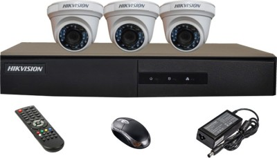 Hikvision-DS-7204HGHI-E1-4-CH-Dvr,-3(DS-2CE56COT-IRP)-Dome-Camera(with-Mouse,Remote)