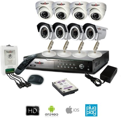 ROBORIX-4B4D-HD1K-8-Channel-Dvr,-4(720P)-Dome,-4(720P)-Bullet-CCTV-Cameras-(With-Accessories)