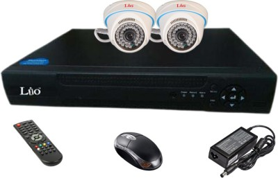Lio Ahd Combo, 1mp Ahd Dome 36ir Camera 2pcs + Lio Ahd Dvr 4 Channel Home Security Camera