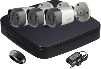 Dahua HDCVI Combo, HDCVI Bullet IR Camera 3Pcs + HDCVI DVR 4 Channel Home Security Camera
