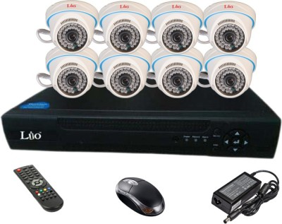 Lio Ahd Combo, 1mp Ahd Dome 36ir Camera 8pcs + Lio Ahd Dvr 8 Channel Home Security Camera