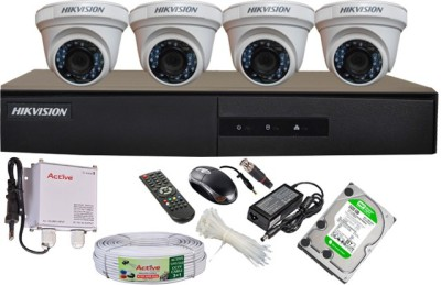 Hikvision-DS-7204HGHI-E1-4CH-Dvr,-4(DS-2CE56COT-IR)-Dome-Camera-(With-Mouse,-Remote,-500GB-HDD,Cable,-Bnc&Dc-Connectors,Power-Supply)