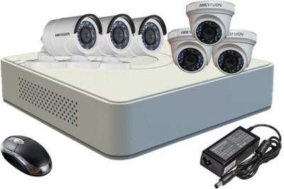Hikvision DS-7108HGHI-F1 Mini 8CH Dvr, 3(DS-2CE16COT-IR) Bullet, 3(DS-2CE56COT-IR) Dome Cameras (With Mouse)