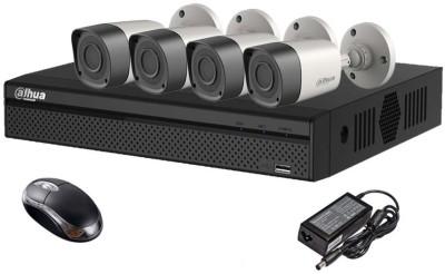 Dahua DH-HCVR4104HS-S2 4CH Dvr, 4(DH-HAC-HFW1000RP-0360B) Bullet Camera (With Mouse)