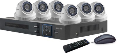 BLAZE 1.3 MP HD CCTV and DVR Combo Pack 6 Channel Home Security Camera