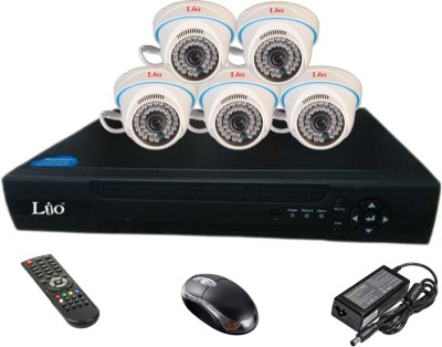 Lio Ahd Combo, 1mp Ahd Dome 36ir Camera 5pcs + Lio Ahd Dvr 8 Channel Home Security Camera