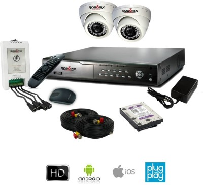ROBORIX-2D-HD1WK-4-Channel-Dvr,-2(720P)-Dome-CCTV-Camera-(With-Accessories)