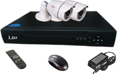 Lio Ahd Combo, 1mp Ahd Bullet 36ir Camera 2pcs + Lio Ahd Dvr 4 Channel Home Security Camera