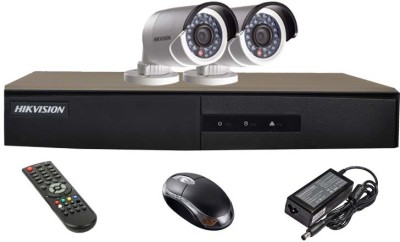 Hikvision DS-7204HGHI-E1 4CH Dvr, 2(DS-2CE16COT-IR) Bullet Cameras (With Remote, Mouse)