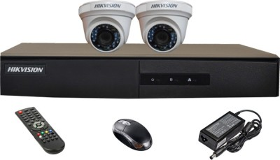 Hikvision DS-7204HGHI-E1 4CH Dvr, 2(DS-2CE56COT-IRP) Dome Cameras (with Mouse,Remote)
