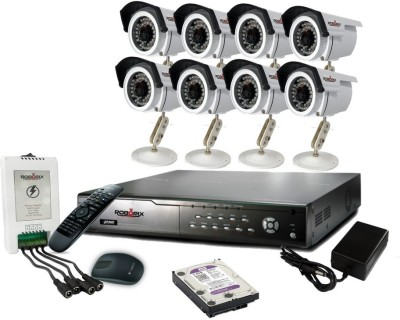 ROBORIX 8B-HD2K 8-Channel Dvr, 8(2 MP) Bullet CCTV Cameras (With Accessories)