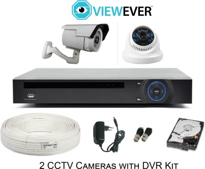 VIEWEVER 2 CCTV Camera Kit with Recorder 4 Channel Home Security Camera
