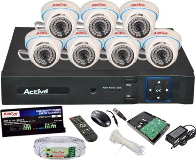 Active Feel Free Life AHD Full Combo, AHD 2MP Dome Camera 7Pcs + Active Cable + 2TB HDD + AHD 2MP DVR 8 Channel Home Security Camera