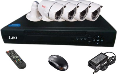 Lio AHD Combo, AHD 1.3MP 36IR Bullet 4Pcs + AHD DVR 4 Channel Home Security Camera