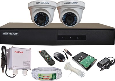 Hikvision DS-7204HGHI-E1 4-Channel Dvr , 2(DS-2CE56C2T-IRP) Dome Cameras (with Mouse, Remote, 500GB HDD, Cable, Bnc 4Pcs, Dc 2Pcs, Power Supply,Adapter )