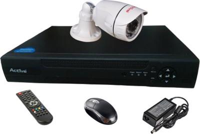 Active Feel Free Life AHD Combo, 1Pcs AHD 1.3MP Bullet Camera + AHD DVR 4 Channel Home Security Camera