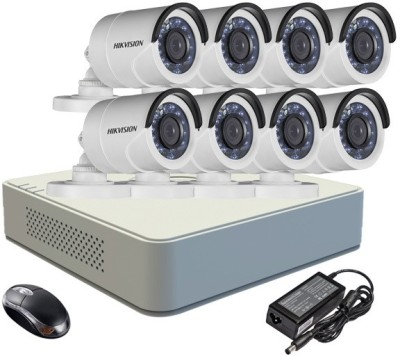 Hikvision DS-7108HGHI-F1 Mini 8CH Dvr, 8(DS-2CE16COT-IR) Bullet Cameras (With Mouse)