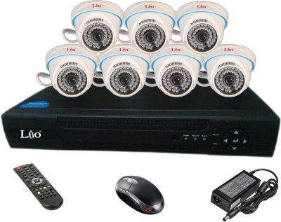 Lio Ahd Combo, 1mp Ahd Dome 36ir Camera 7pcs + Lio Ahd Dvr 8 Channel Home Security Camera