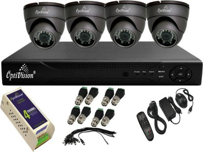 Optivision-OV-4704-1488-4DLX-4Channel-DVR-+4-(650TVL)-IR-Dome-CCTV-Cameras-(With-Mouse,Remote,1-Power-Supply,BNC,DC-Connector)