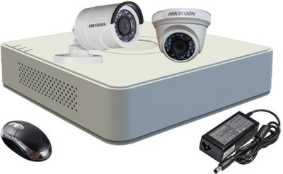 Hikvision DS-7104HGHI-F1 Mini 4CH Dvr , 1(DS-2CE56COT-IR) Dome, 1(DS-2CE16COT-IR) Bullet Camera (With Mouse)