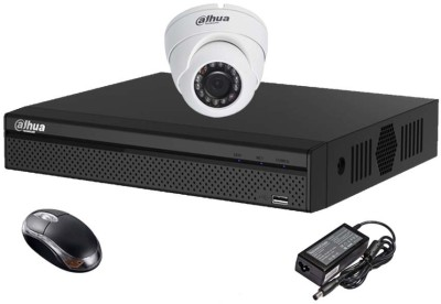Dahua DH-HCVR4104HS-S2 4CH Dvr, 1(DH-HAC-HDW1000RP) Dome Cameras (With Mouse)