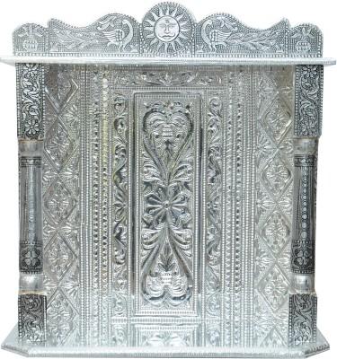 Pavitra Mandir 14 x 5 Small Oxidize Carving Temple Wooden, Aluminium Home Temple