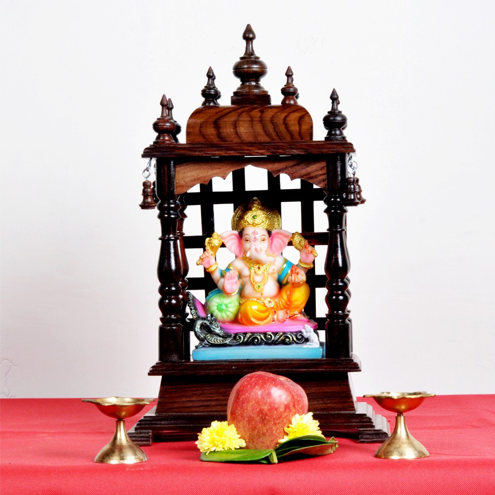 View Designer Lanes Wooden Home Temple(Height: 42 cm) Furniture (Designer Lanes)