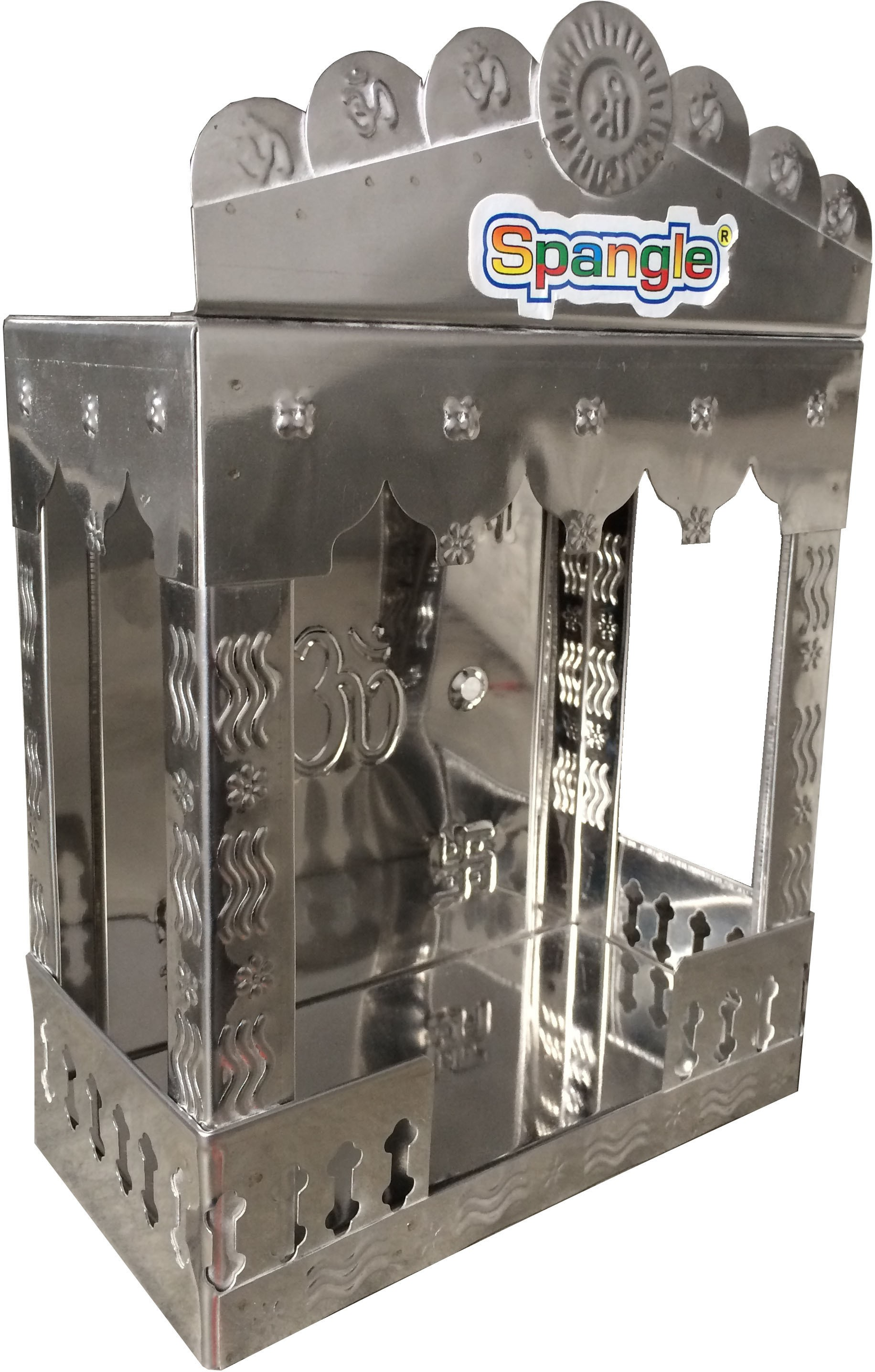 View Spangle Stainless Steel Home Temple(Height: 32.5 cm) Furniture (Spangle)