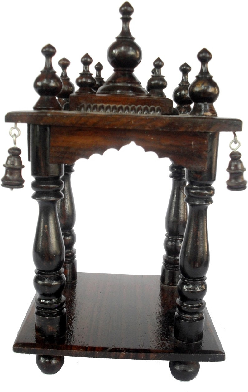 View Sheela's Arts&Crafts SH02505 Wooden Home Temple(Height: 25 cm) Furniture (Sheela's Arts&Crafts)