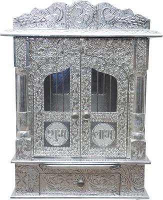 Pavitra Mandir 15 x 9 Door Full Aluminium Carving Mandir Wooden, Aluminium Home Temple