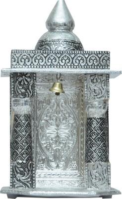 Pavitra Mandir 5 x 4 Small Oxidize Carving Temple Wooden, Aluminium Home Temple