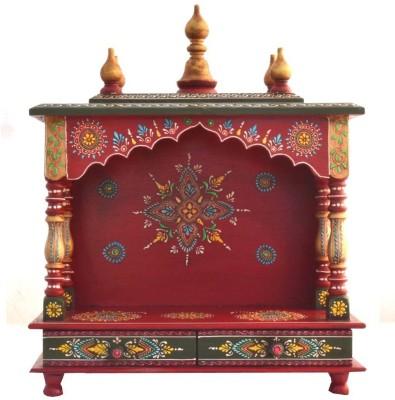 Jordaar Wooden Home Temple(Height: 56 cm)