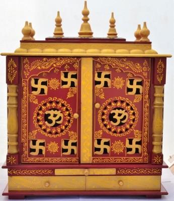 Jordaar Wooden Home Temple(Height: 74 cm)