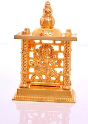Hashcart Maa Durga Mandir / Temple for Pooja and Gift Purpose Aluminium Home Temple(Height: 19 cm)