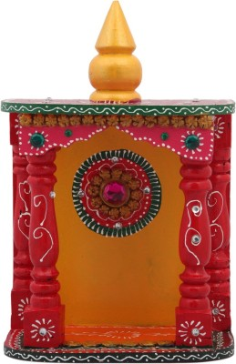 JaipurCrafts Decorative Kundan Studded Wooden, Paper Mache Home Temple