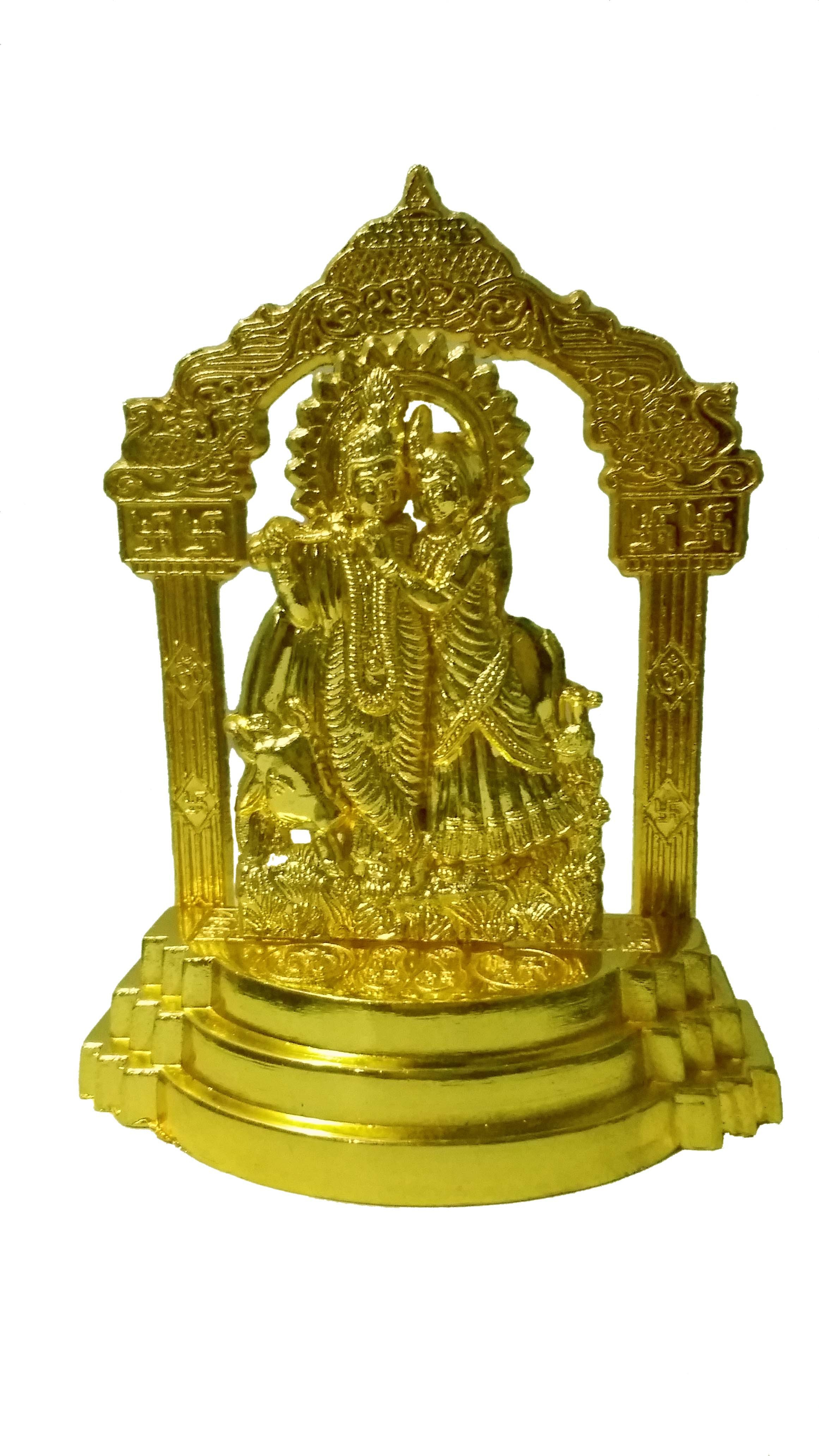View Heaven Decor Gold Plated Home Temple(Height: 11 cm) Furniture (Heaven Decor)