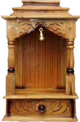 Pavitra Mandir 12 x 9 Teakwood Carving Wooden Home Temple