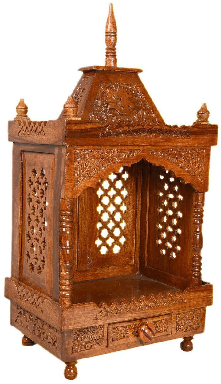 View Simran Handicrafts Wooden Home Temple(Height: 53.34 cm) Furniture (Simran Handicrafts)