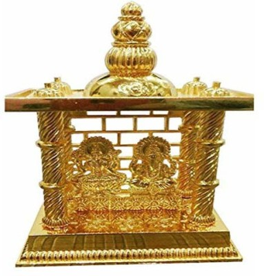 Shree Krishna Handicrafts And Gallery Laxmi Ganesh Mandir Gold Plated For Puja and Gift Brass Home Temple