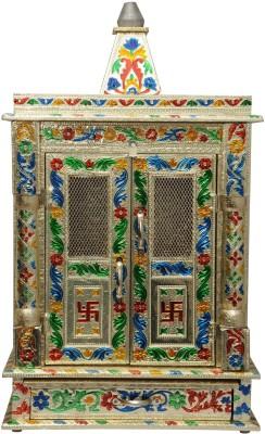 Pavitra Mandir 10 x 6 Door Mina Work Carving Wooden, Aluminium Home Temple