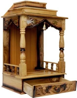 Pavitra Mandir 15 x 10 Teakwood Carving Wooden Home Temple