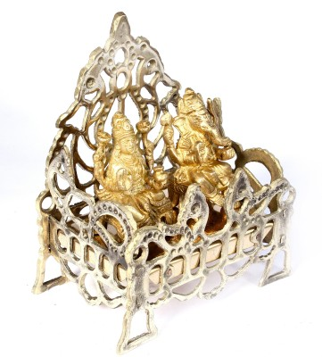 SKM Spl With Ganesha Laksmi Idols Brass Home Temple